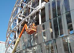 Installation Overgaard custom facade system
